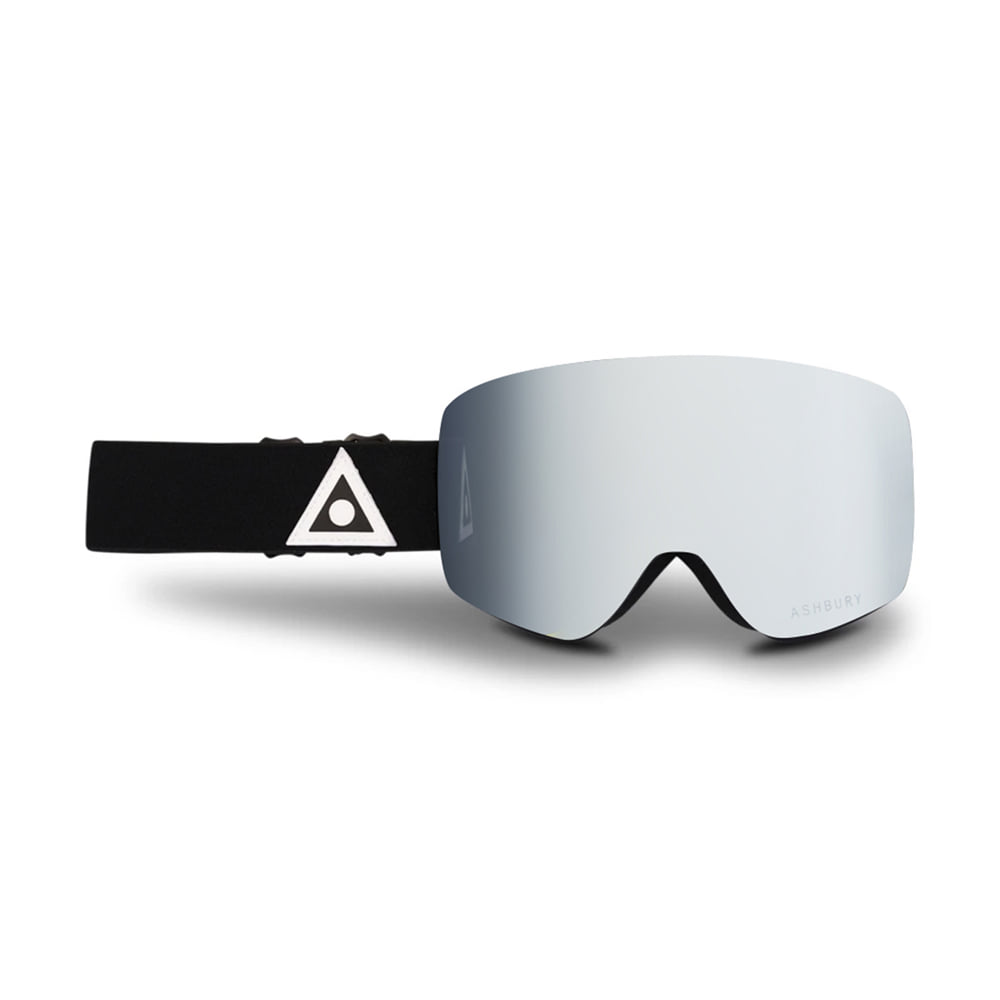 ASHBURY [FLAMELESS] SONIC BLACK TRIANGLE: Silver mirror lens + Clear lens