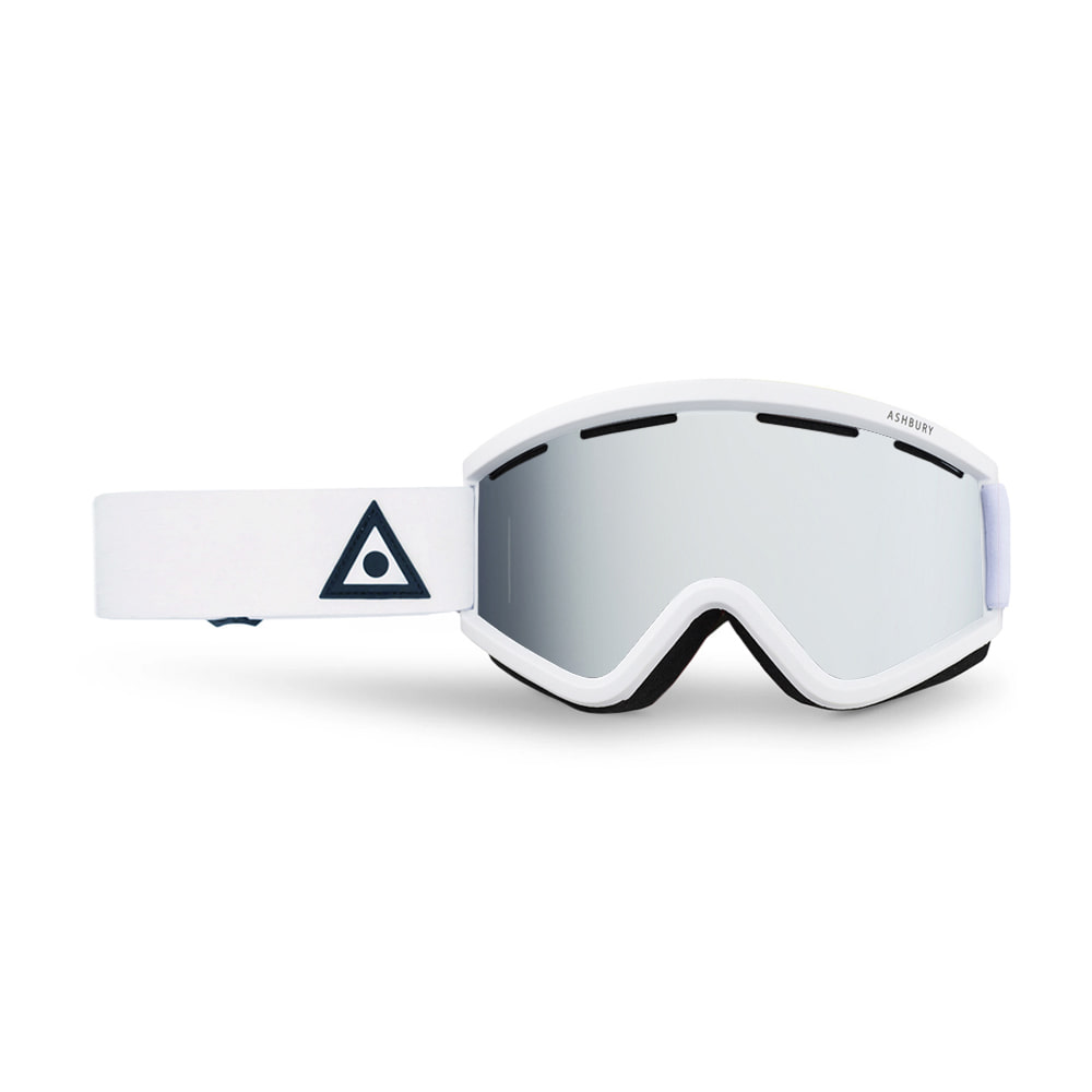 ASHBURY [CLASSIC] BLACKBIRD WHITE TRIANGLE: Silver mirror lens + Clear lens