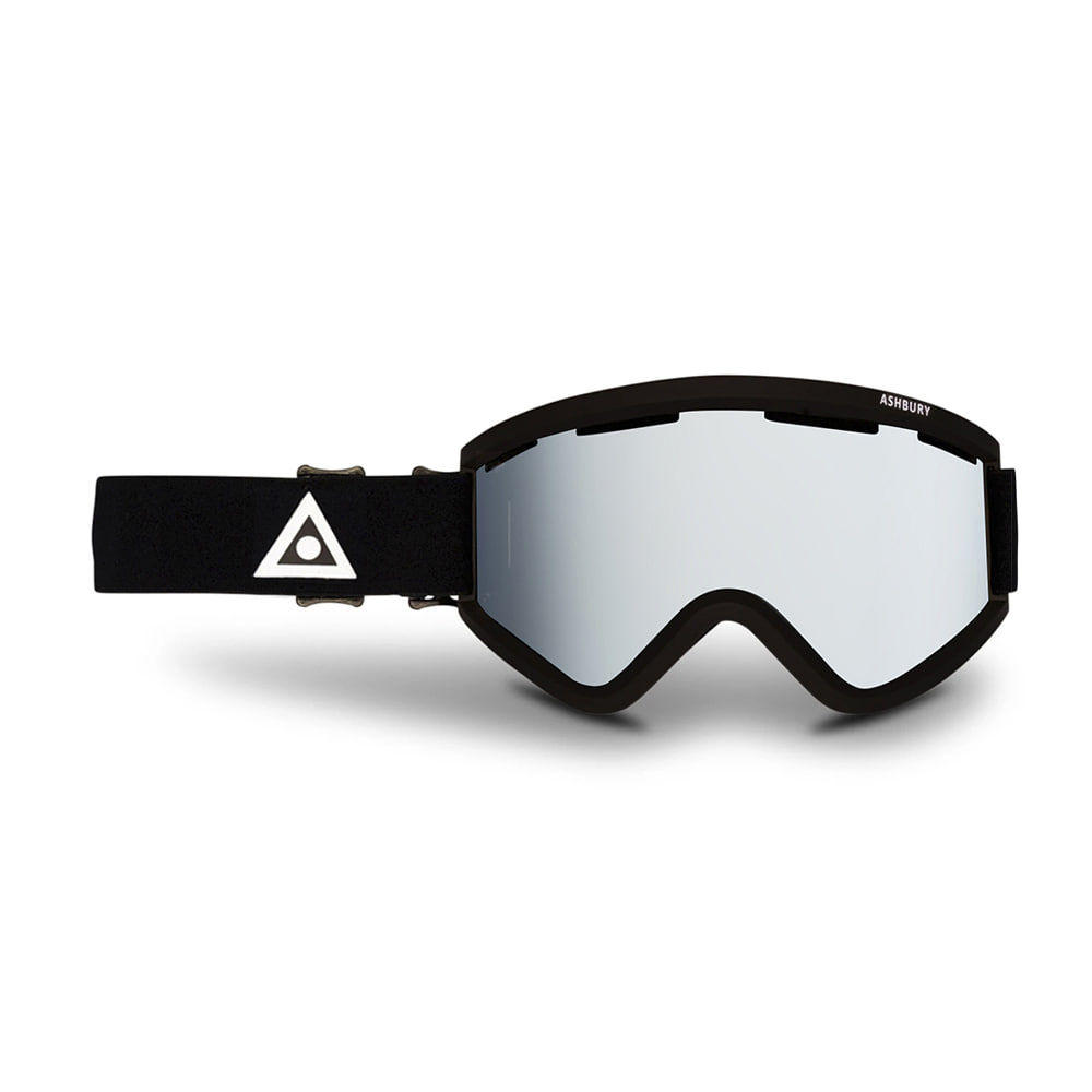 ASHBURY [CLASSIC] BLACKBIRD BLACK TRIANGLE: Silver mirror lens + Clear lens